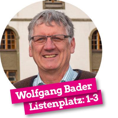 Wolfgang Bader - Listenplatz 1-3