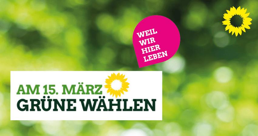 am 15. März - Grüne wählen