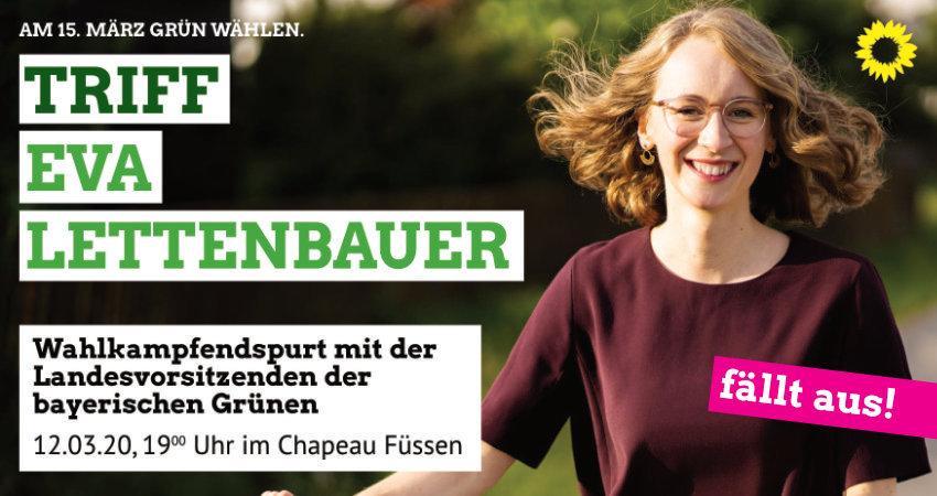 Veranstaltung mit Eva Lettenbauer in Füssen fällt leider aus